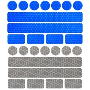 Image 3 - Светоотражающие наклейки на велосипед, клейкая лента для безопасности велосипеда, белые, красные, желтые, синие наклейки на велосипед, велосипедные аксессуары