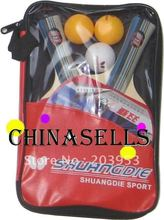 Genuine SHUANFDIE table tennis racket table tennis racquet & ball& cover T.T. racket handshake