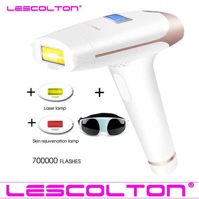 Original Lescolton 3in1 700000 pulsed IPL Laser Hair Removal Device Permanent Hair Removal IPL laser Epilator Armpit