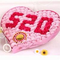 愛520 +ブレスレットローズソープフラワーギフトボックスバレンタインデーの贈り物クリエイティブギフト結婚式の装