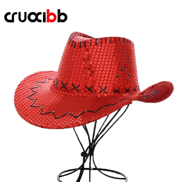 41cf29075c1 CRUOXIBB Summer Men s Sun Hat Western Cowboy Hat Sequins Design Women Mem  Bone Outdoor Visor Summer Hat Casquette Fishing Gorro
