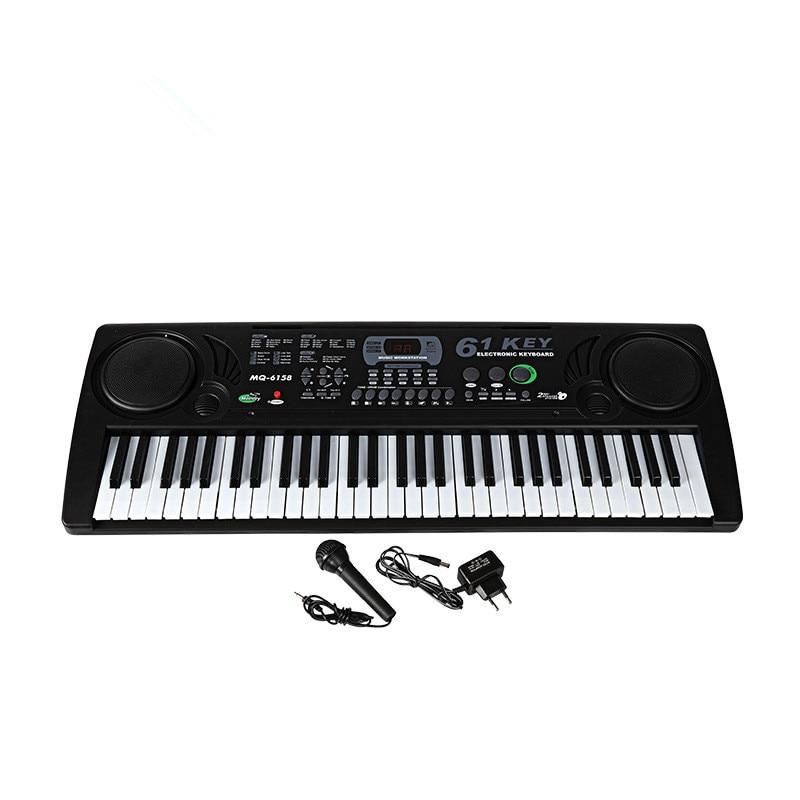 61 touches clavier Musical numérique orgue Piano électronique avec Microphone pour enfants adulte débutant cadeau