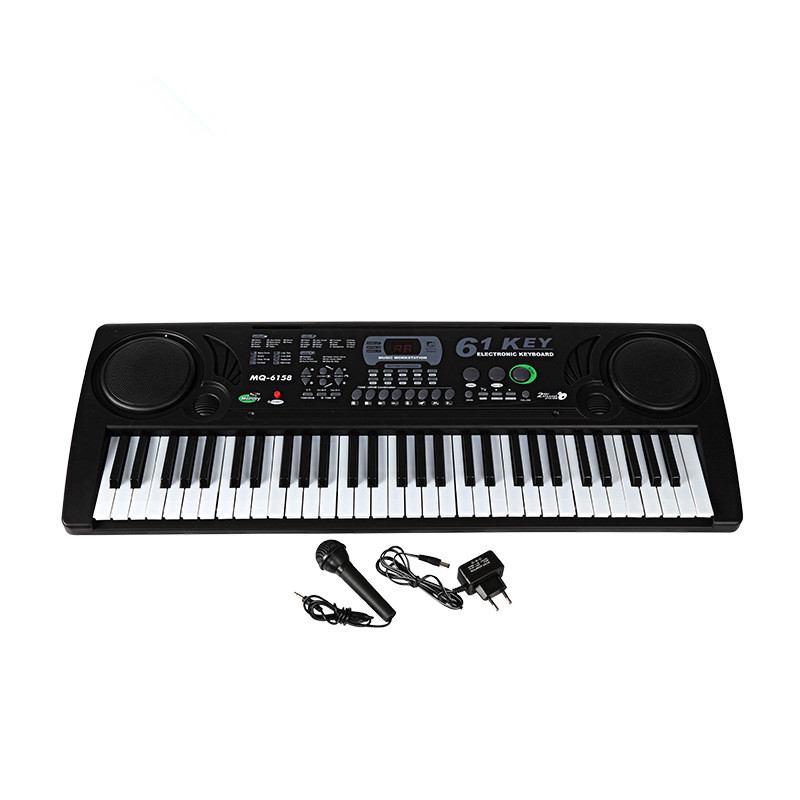 61 Keys Digital Musical KeyBoard Organ Electronic Piano With Microphone For Children Adult Beginner Gift