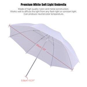 """Image 2 - Kit déclairage de Studio Photo 2 pièces 2M 6.6Ft support de lumière + 2 pièces 33 """"blanc parapluie léger doux + 45W ampoule + prise pivotante"""