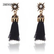 Women Ethnic Vintage Earrings Beads Long Fringe Earrings Handmade Indian Jewelry Tassel Drop Earrings Pendientes e0235