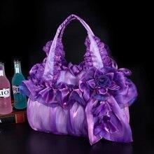 2017 New Women Fashion Flowers Lace Handbags,Bridal Bag,Sweet Party Tote,Shoulder Bags Ladies Pretty Big Flower