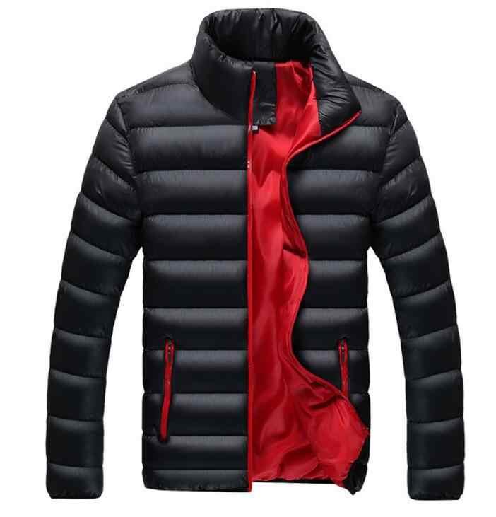 2018 nowe kurtki Parka mężczyźni gorąca sprzedaż jakości jesień ciepła odzież zimowa marka Slim męskie płaszcze dorywczo kurtki wiatrówki mężczyźni M-4XL