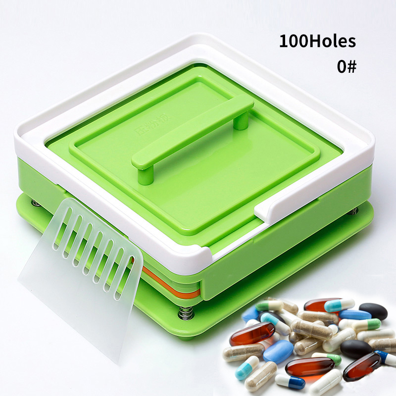 100 Hole #0 ABS Grass Green Capsule Filling Plate Filling Machine Manual Capsule Medicine Capsule Production DIY Herb