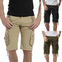 2017 New Fashion Casual męska Stałe Kieszeń Plaża Praca Dorywcza mężczyźni Krótkie Spodni Spodenki Na Lato Gorące Sprzedaż homme pantalon # AA
