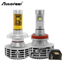 Autofeel Car Lamps Headlight 6000LM H4 H7 9005 H11 Car Led Headlight Auto Led Head Lamp Bulb Conversion kit 12V 6500k Light