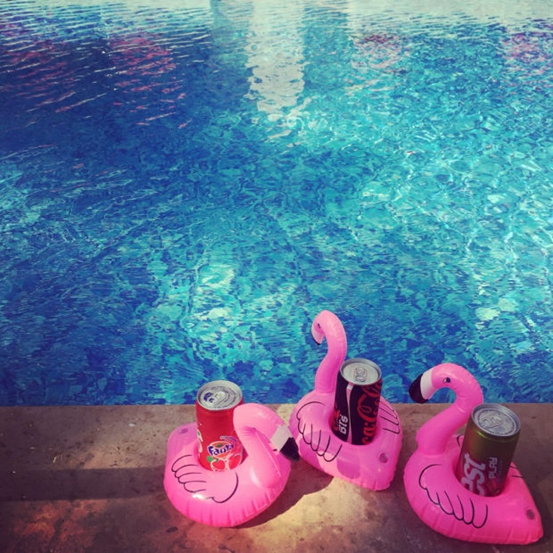 Flamingo swimming cup holder (12)