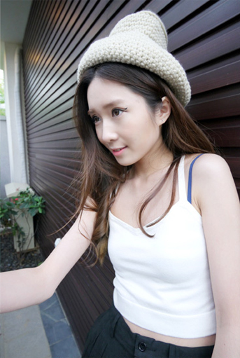 Fashion american apparel aa knitted tube top tube top basic spaghetti strap small vest