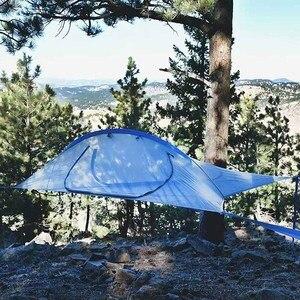 Image 4 - Ultralight Camping Boom Hangmat Bed Outdoor Wandelen Reizen Boom Tent Drie Bomen Opknoping Tent Familie Multi Functionele Tent Bed