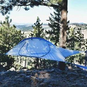 Image 4 - Ultralight קמפינג עץ ערסל מיטת חיצוני טיולים נסיעה עץ אוהל שלושה עצי תליית אוהל משפחה רב תפקודי אוהל מיטה