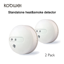 2pcs/lot Ceiling mounted battery operated standalone Warmth Sensor and Smoke Detector 2-in-1 for Residence/Workplace/Issue/Warehouse