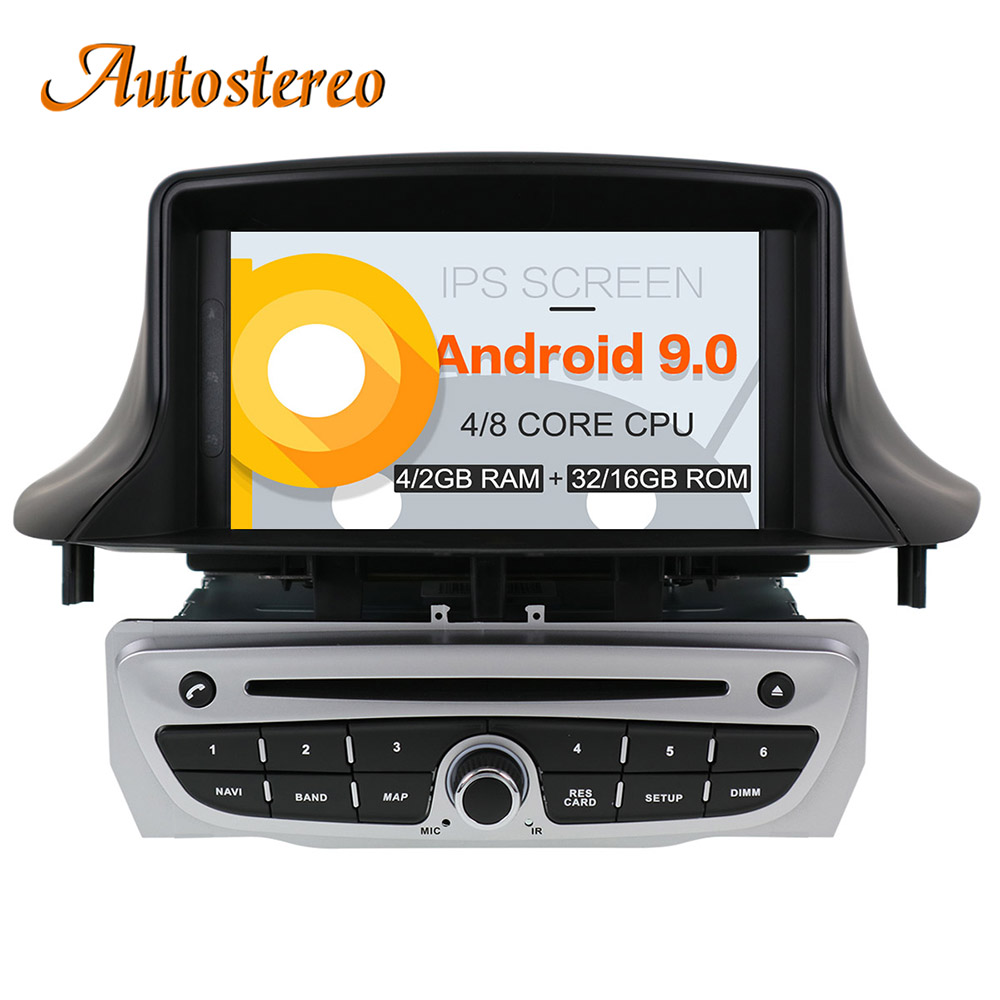 Android 9 DSP Car DVD CD Player for Renault Megane 3 Renault Fluence 2009 stereo head