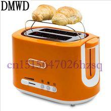 DMWD многофункциональный бытовой тостер 500 Вт Электрический хлеб/сэндвич/булочки на пару 2 ломтика 6 передач регулируемая с грилем