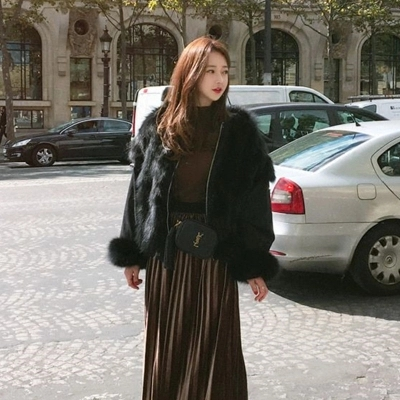 Women New Fashion Faux Fur Coat 17M12