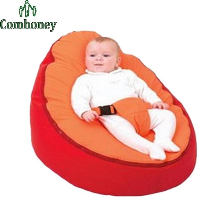 Tampa do Saco de Feijão do bebê para Crianças de Veludo Confortável Infantil Recém-nascidos Beanbag Tampa Do Sofá Sofá Criança Game Pad Tampa de Assento Do Impulsionador