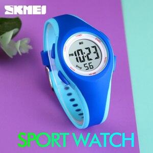 Image 4 - Skmei子供液晶電子デジタル腕時計スポーツ腕時計ストップウォッチ発光 5Bar防水子供腕時計女の子