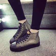 Autumn winter Female Footwear 2017 Fashion Women Casual Shoes Flats Canvas Espadrilles Hollow Lace Plimsolls Breathable Gumshoe