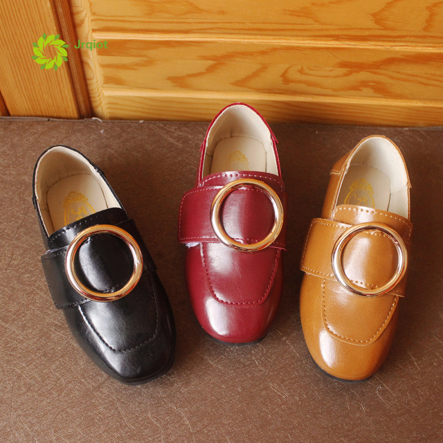 JRQIOT 2017 весной новые дети shoes девушки принцесса shoes версия вскользь Peas shoes прилив мальчиков круглый пряжки shoes