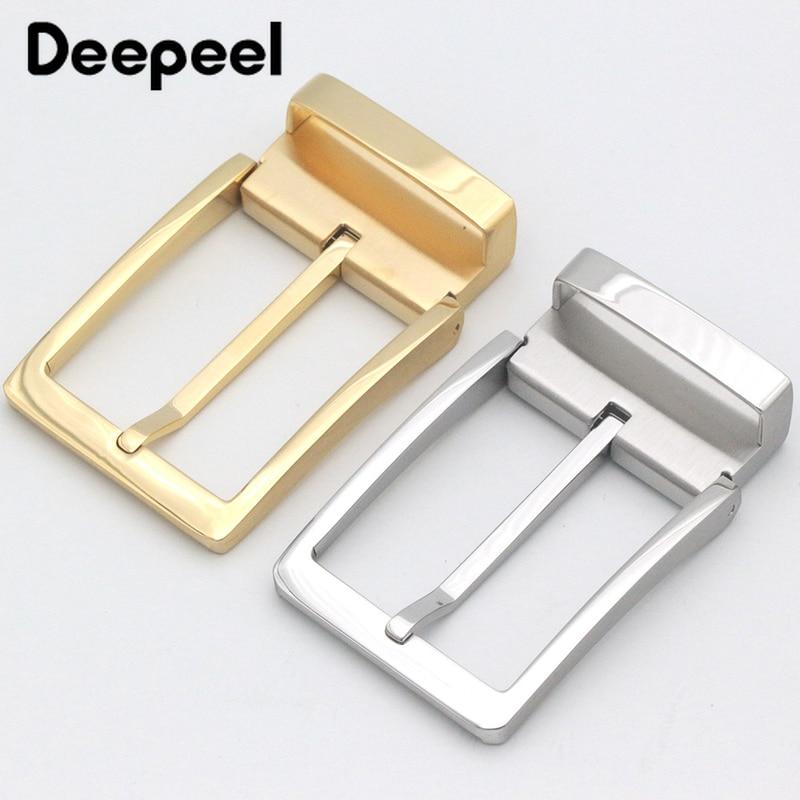 Deepeel 35mm/39mm Stainless Steel Belt Buckle For 33-34mm/36-38mm Belt Men's Pin Buckle Belt Lead DIY Leather Craft Accessories