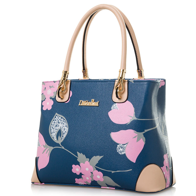 ФОТО 2016 Fashion Floral Women Bags Flower Printing Handbags For Women Shoulder Bags High Quality PU Leather Large Tote