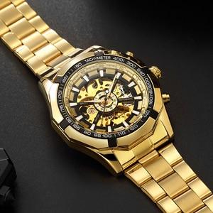 Image 5 - FORSINING Men Fashion Skeleton Mechanical Watch Casual Sport Waterproof Mens Classic Business Wristwatch Relogio Masculino