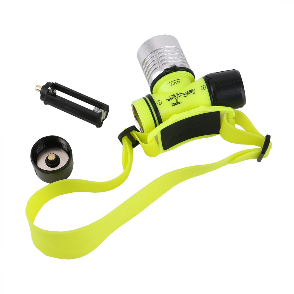 20M Underwater Diving Lights Lighting Headlights 1000 LM XPE Led Dive Headlamp 3 Modes Waterproof Head Torch Lamp Use 18650/AAA
