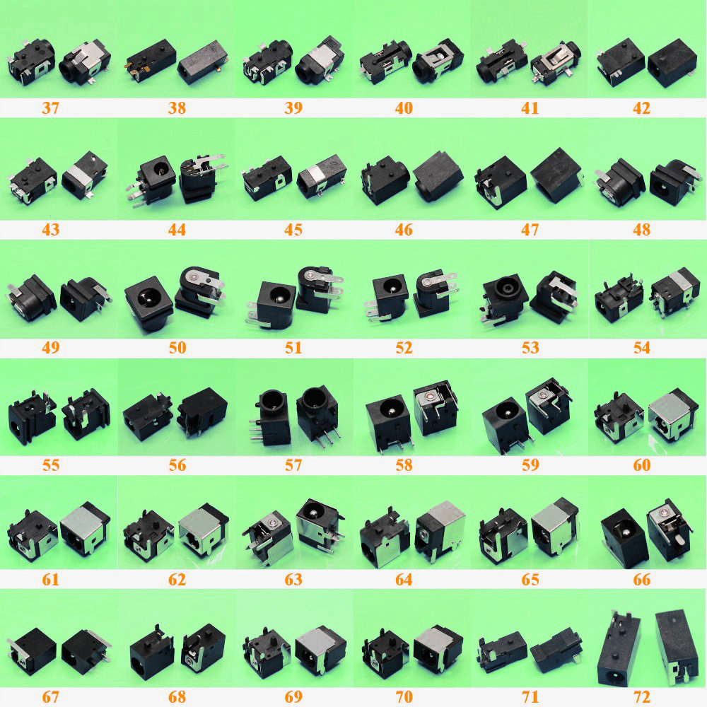 Image 2 - Sell At A Loss 72models 1 10pcs Wholesale Tablet PC Notebook Laptop DC Power Jack Connector for Samsung/Asus/Acer/HP/SONY/Lenovo-in Computer Cables & Connectors from Computer & Office