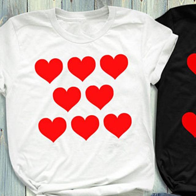 Heart Printed Matching T-Shirts