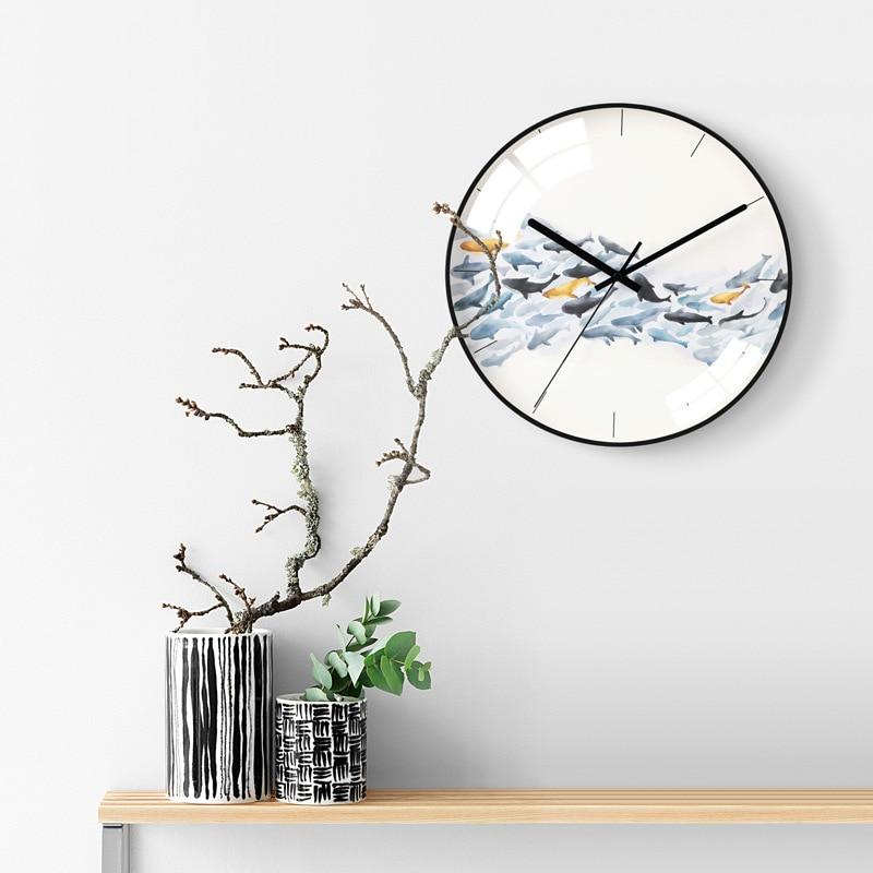 Nordic Simple Personality Creative Wall Clock Modern Home Clock Study Ultra Quiet Clock Fashion Decorative Quartz Clock Hot Sale