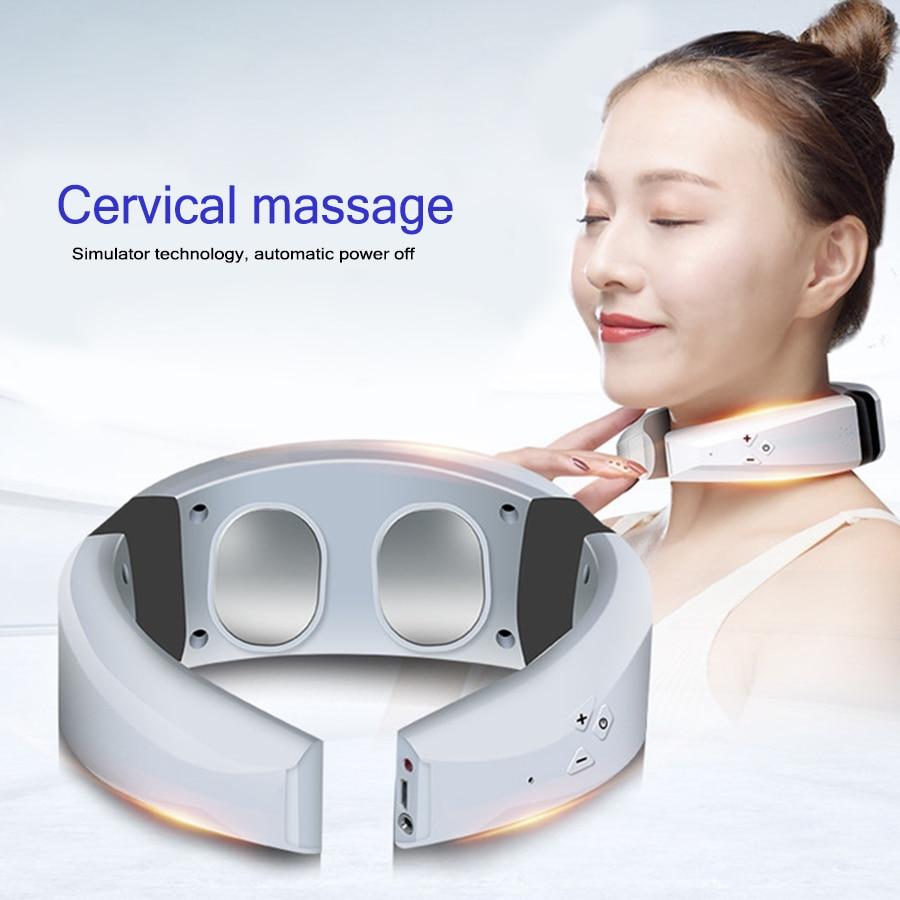 Acupuntura elétrica Aquecimento massager da Garganta terapia