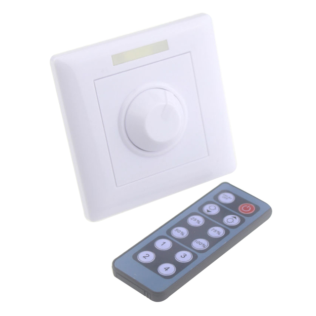 AC90 240v triac dimmer 220v 12keys ir dimmer switch remote light