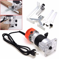 1Set 800W 220V Wood Trim Router 6 35mm Collect Diameter Electric Hand Trimmer Woodworking Laminate Palm
