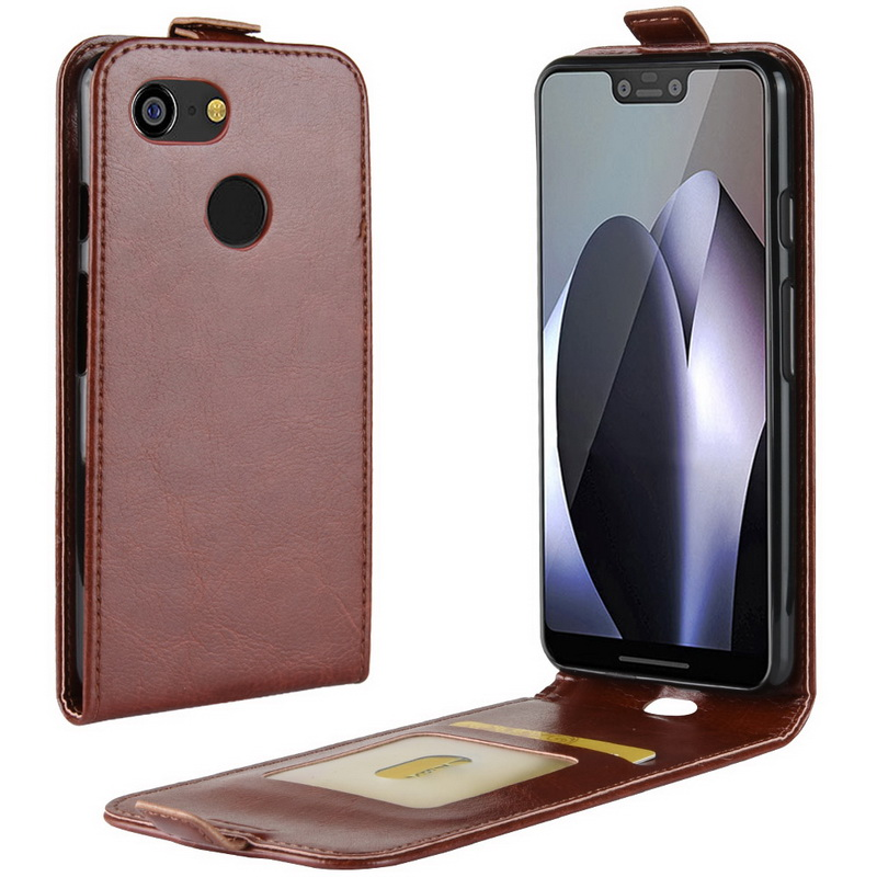 For Google Pixel 3 2 Phone Case Crazy Horse Filp Vertical Magnetic Protective Cover For Google Pixel 3 2 XL 2Xl Shell