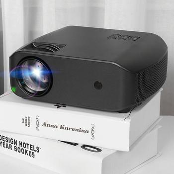 Home Theater Projectors Mini Projector With Cover And 4.0 inch single LCD Support Audio Out/HDMI Port/VGA/PC-RGB