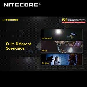 Image 5 - 2018 nitecore P26 1000ルーメンcree XP LハイV3 led無限可変輝度戦術的な懐中電灯