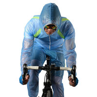 ROCKBROS MTB Cycling Jersey Pants Kit MultiFunction Jacket Waterproof Windproof TPU Raincoat Bike Bicycle Clothes 3