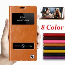 Hot!!! For Sony Xperia Z3 L55t L55u D6603 D6653 D6616 D6633 Genuine Leather Cover Case Window Flip Stand Mobile Phone Bag