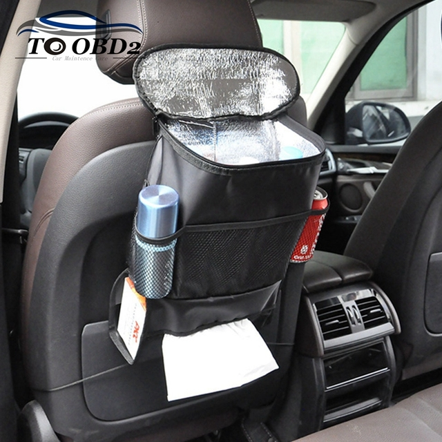Car Seat Organizer Auto Storage Bag Backseat Chair Holder Multi Pocket Food Travel