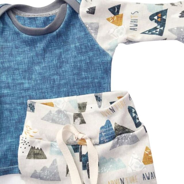 2017 New Newborn Bebes Baby Boy Girl Clothes Long Sleeve Tops Pants Hat 3PCS Outfits Set Baby Clothing For Newborns