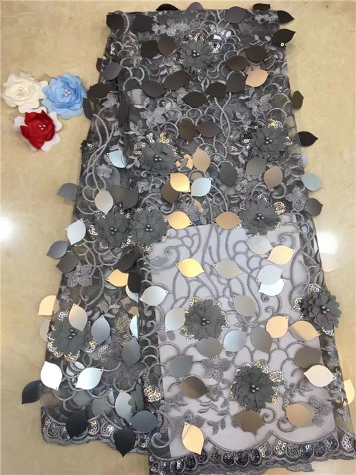 African Net Sequins Laces 5yard Latest Nigerian Laces 2019 silver Sequin Fabric For Sewing Dress Tulle Lace Fabric(FJ-2-19African Net Sequins Laces 5yard Latest Nigerian Laces 2019 silver Sequin Fabric For Sewing Dress Tulle Lace Fabric(FJ-2-19