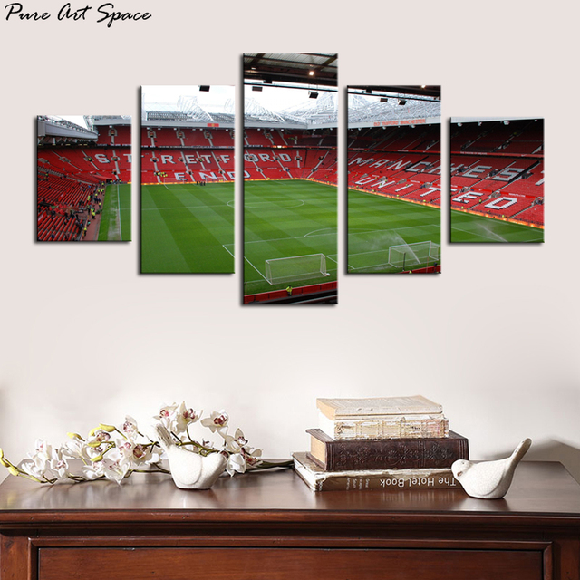 Famous Football Field Sports Stadium Hd Photo Print Poster 5 Piece Canvas Picture On Wall