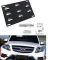 Bumper Tow Hook License Plate Mounting Bracket Holder For Benz W203 C240 C230 C55 AMG C320 C350 C280 C43 C32