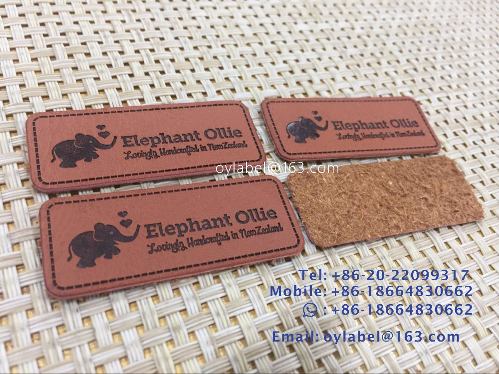 Custom made high quality leather label simulation leather label main label