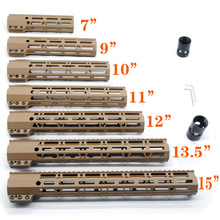 Tan 7'' 9'' 10'' 11'' 12'' 13.5'' 15'' inch Length M-lok Clamping Style Handguard Rail Free Float Mount System Free Shipping