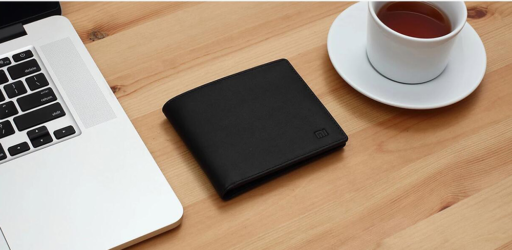 XIAOMI Mi Wallet Genuine Leather Black Purse Man Stylish Business Cowhide Standard Wallets High Quality Men Leather Wallets  (11)