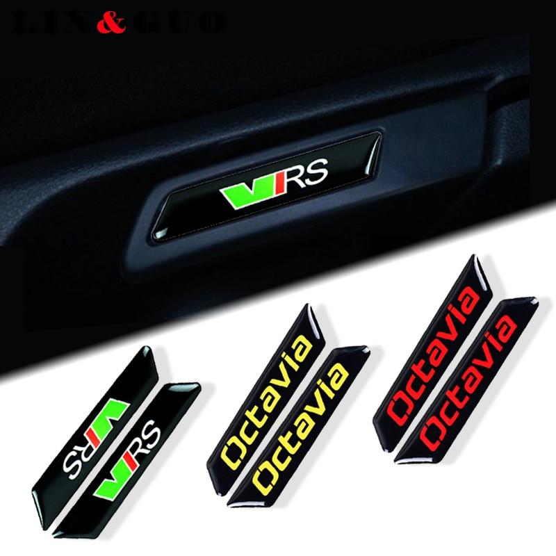 2 шт./компл. автомобильный Стайлинг, украшение для автомобиля, чехол для skoda octavia подъемный ключ, вставка для сиденья, отделка, автомобильная н...